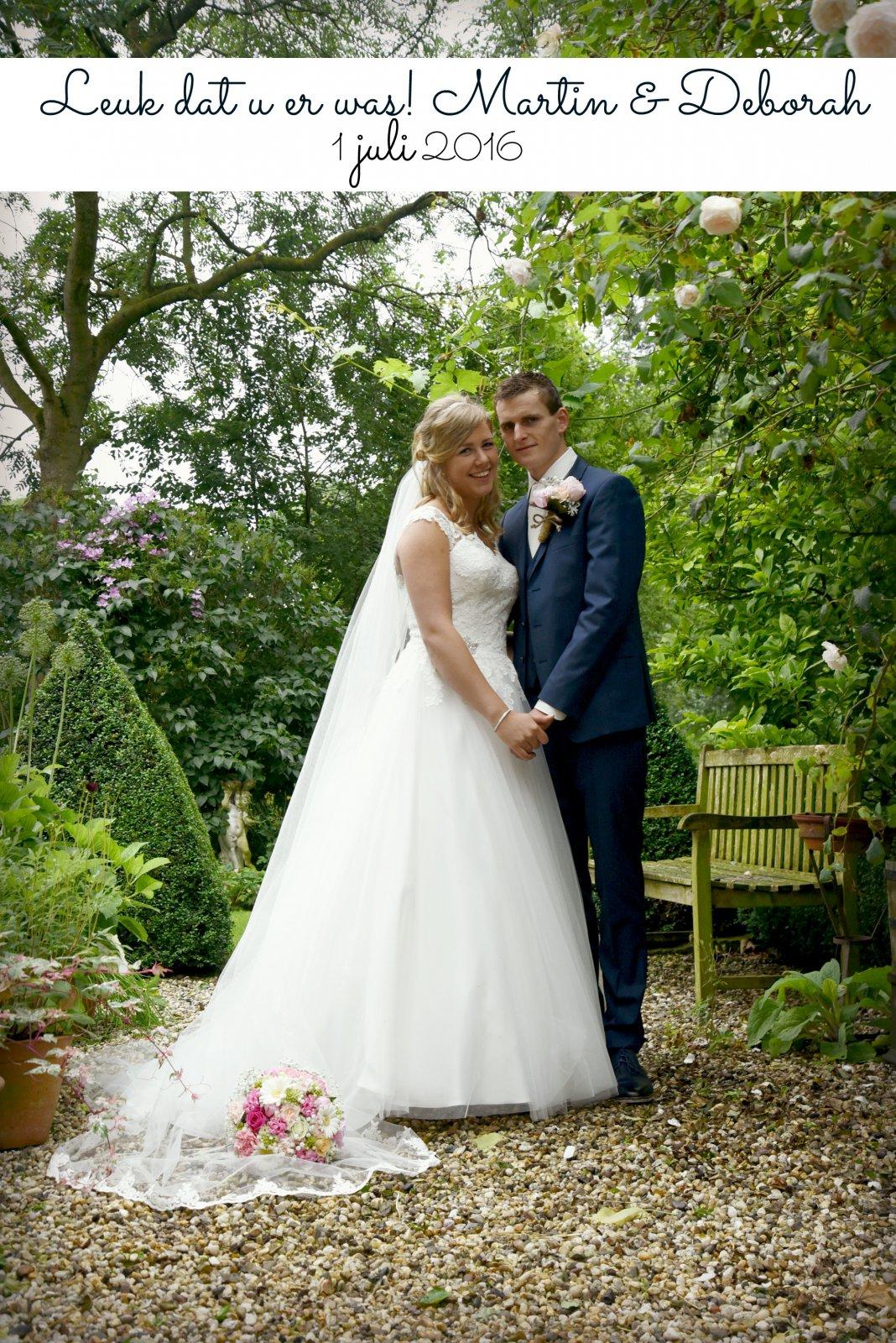Bruidspaar Martin & Deborah (01-7-2016)