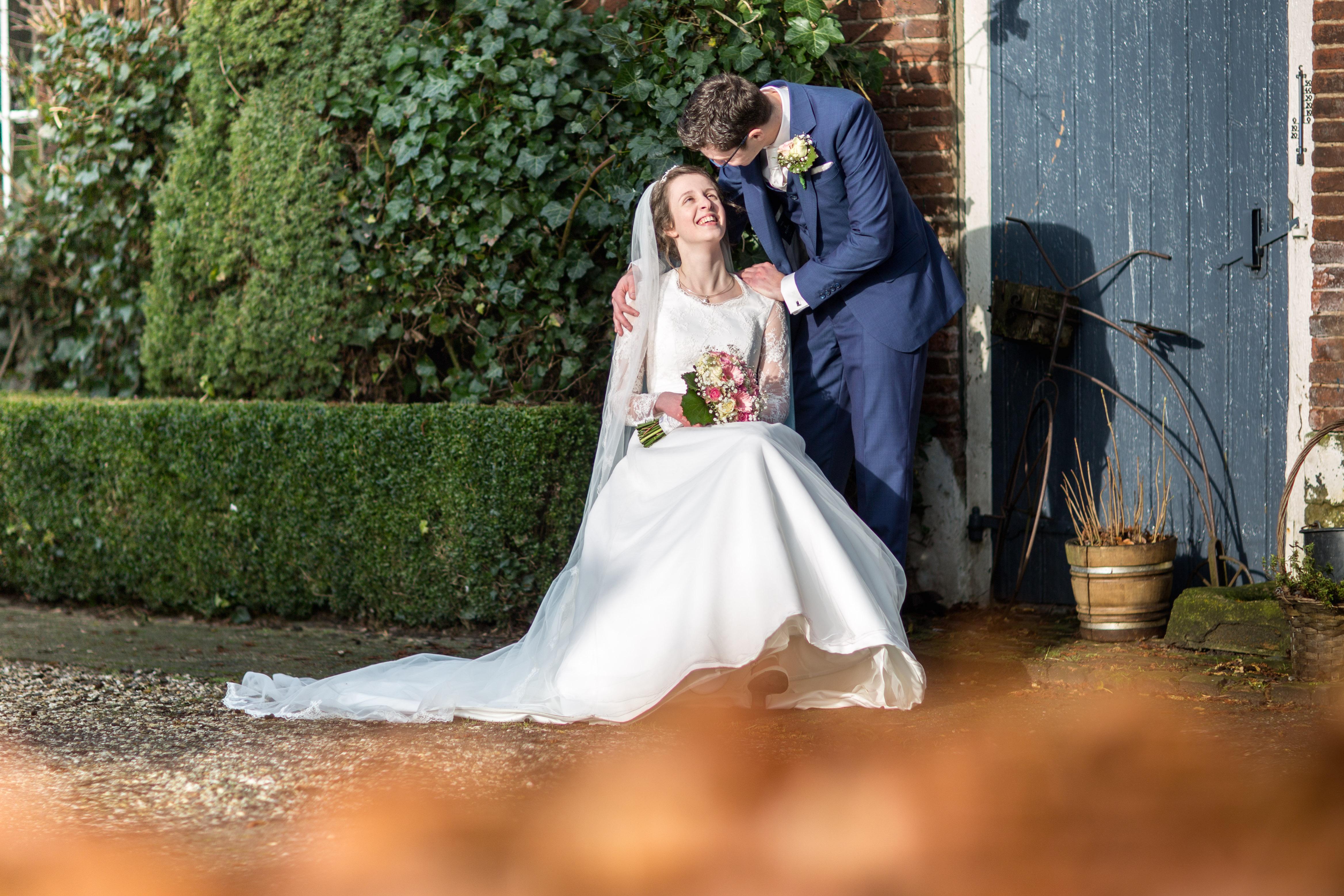 bruidspaar Ad Rozenbeek en Annemarie Benschop 03-03-2016