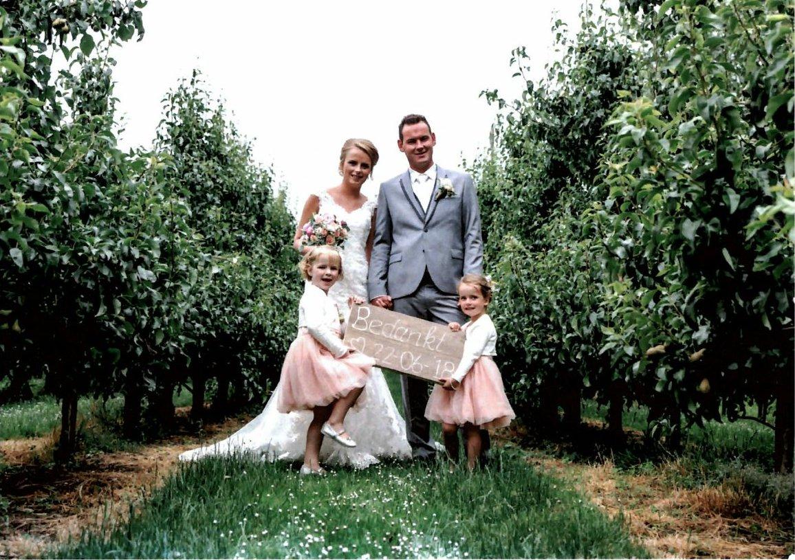 bruidspaar Uittenbogaard - de Jong (22-06-2018)