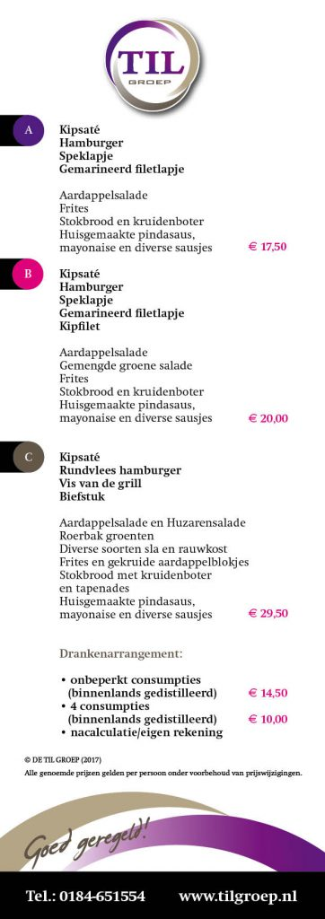 TIL 2017 BBQ flyer DEF2 362x1024 Nieuwe folder barbecue arrangementen De Til